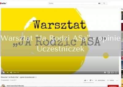 """Warsztat """"Ja Rodzi ASa"""" – opinie Uczestniczek"""