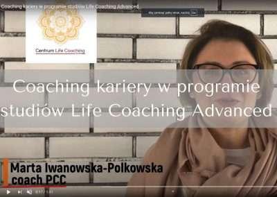 Coaching kariery wprogramie studiów Life Coaching Advanced